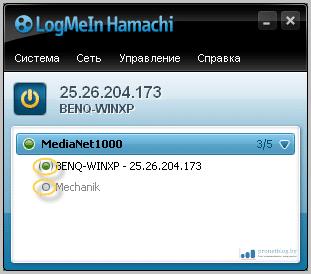 Тема: локальная медиа-сеть через Hamachi